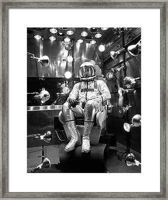 X-15 Flight Suit Testing Framed Print by Nasa/boeing