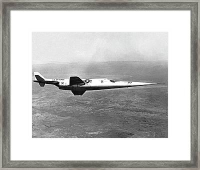 X-3 Stiletto Experimental Aircraft Framed Print