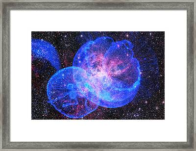 X-factor In Universe. Strangers In The Night Framed Print by Jenny Rainbow