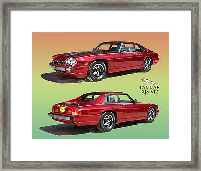 1986 X J S Jaguar Coming And Goingf Framed Print by Jack Pumphrey