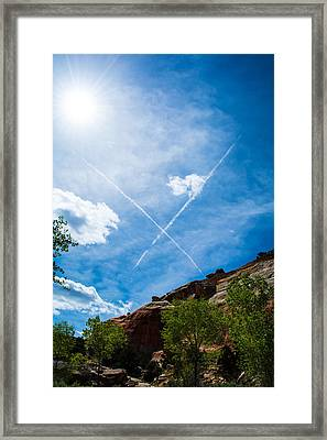 X Marks Framed Print
