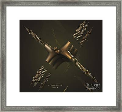 Framed Print featuring the digital art X by Melissa Messick