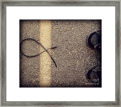 Framed Print featuring the photograph X On The Line by Meghan at FireBonnet Art