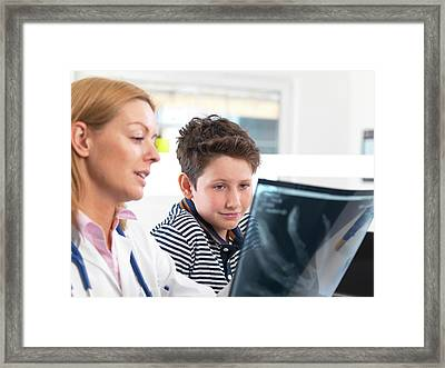 X-ray Consultation Framed Print by Tek Image