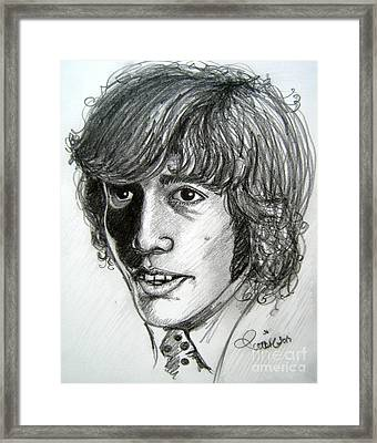 Framed Print featuring the drawing Robin Gibb by Patrice Torrillo