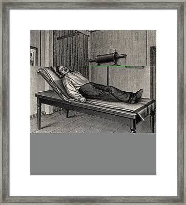 X-ray Of A Patient's Thorax Framed Print by Universal History Archive/uig
