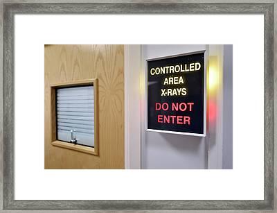 X-ray Room Warning Box Framed Print by Dr P. Marazzi
