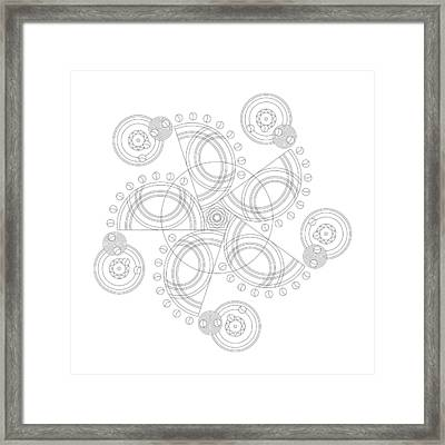 X To The Sixth Power Framed Print by DB Artist