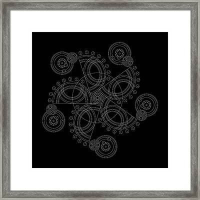 X To The Sixth Power Inverse Framed Print by DB Artist