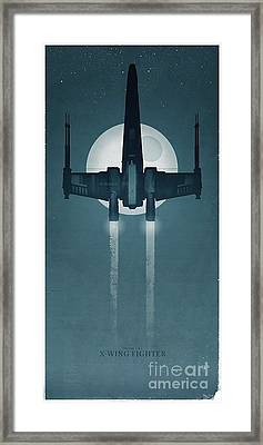 X Wing Fighter Framed Print by Baltzgar