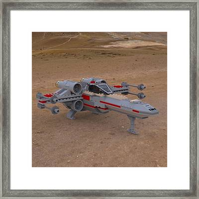 X-wing On The Ground Framed Print by John Hoagland
