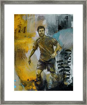 Xabi Alonso - B Framed Print by Corporate Art Task Force