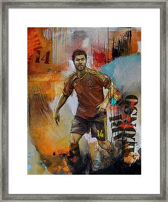 Xabi Alonso Framed Print by Corporate Art Task Force