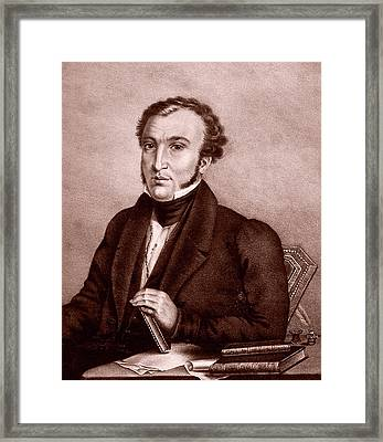 Xavier Chabert Framed Print by National Library Of Medicine