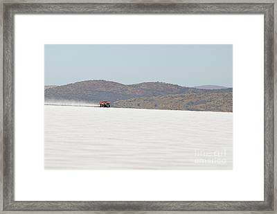 Xb Ford Falcon Coupe On The Salt At Full Throttle Framed Print by Frank Kletschkus