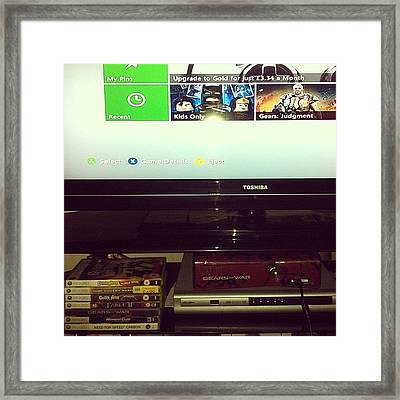 #xbox #xboxlive #gamertag #needforspeed Framed Print