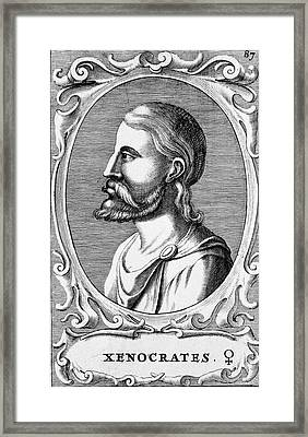 Xenocrates Framed Print by National Library Of Medicine