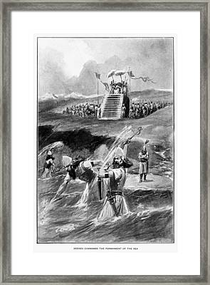Xerxes At Hellespont Framed Print