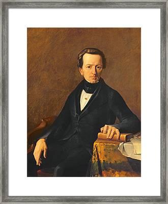 Portrait Of Master Valmont Framed Print by Jean-Francois Millet