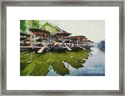 Xi Tang Town Framed Print