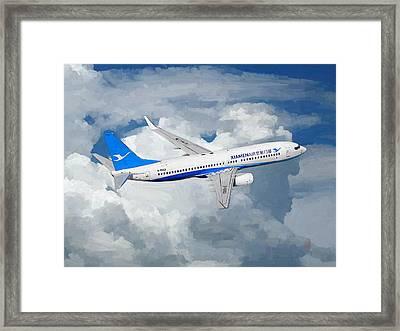 Xiamen Airlines Boeing 737 800 Framed Print