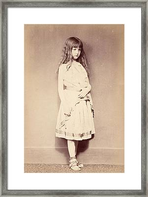 Xie Standing, C.1875 Framed Print by Lewis Carroll