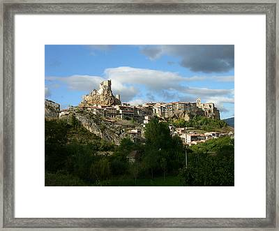 Xii Century Rural Town Framed Print