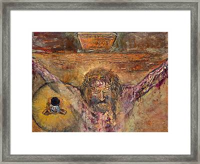 Xii Station Jesus Dies On The Cross Framed Print