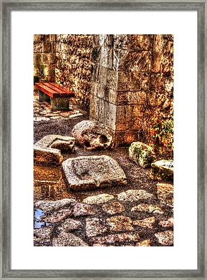 Framed Print featuring the photograph Stones That Don't Lie - Israel by Doc Braham