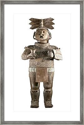 Xipe Totec. 500-650. Clay Sculpture Framed Print
