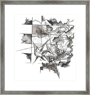 Xiphias Framed Print by Julio Lopez