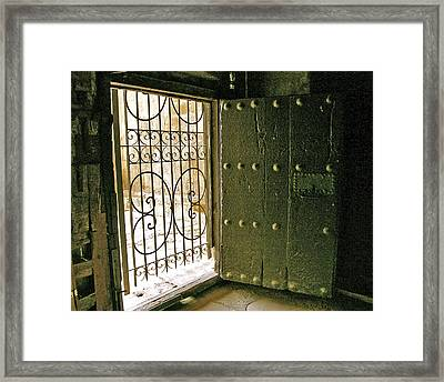 Xiv Century Church Door Framed Print