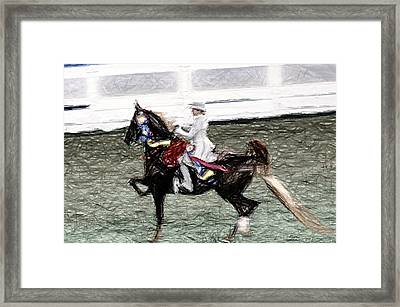 Xiv I - World Championship Horse Show - Louisville Ky Framed Print by Thia Stover