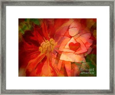 Xmas Angel Framed Print by Lutz Baar