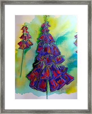 Xmas Foxglove Framed Print by Antoinette  Andersen