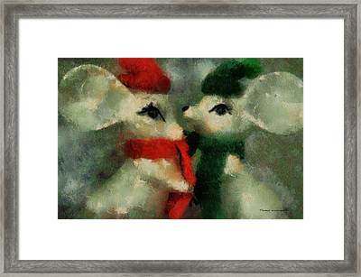 Xmas Mice 02 Photo Art Framed Print by Thomas Woolworth
