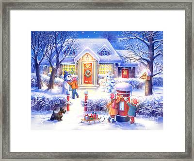 Xmas Framed Print by Zorina Baldescu
