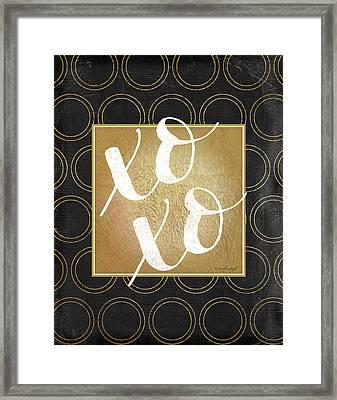 Xoxo Framed Print by Jennifer Pugh