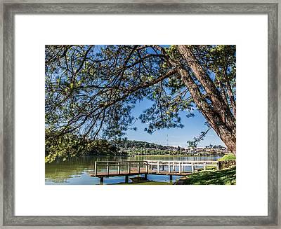 Xuan Huong Lake Framed Print