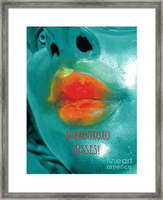 Xxooxxo Kisses And Special Surprise For Patrons Framed Print