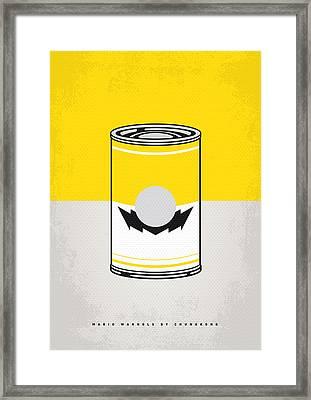 Y Mario Warhols Minimal Can Poster-wario Framed Print