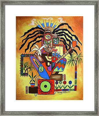 Ya Mon 2 No Steal Drums Framed Print