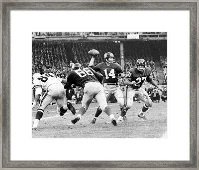 Y.a. Tittle Framed Print