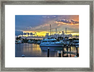 Framed Print featuring the photograph Yacht At Cape Coral Florida Marina And Resort 2 by Timothy Lowry