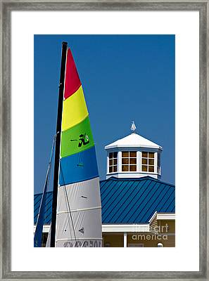 Yacht Club Framed Print by Joan McCool