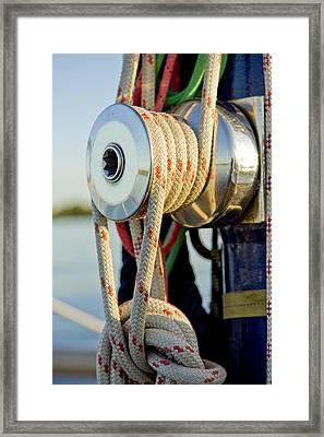 Yacht Detail - Block Framed Print by Raimond Klavins