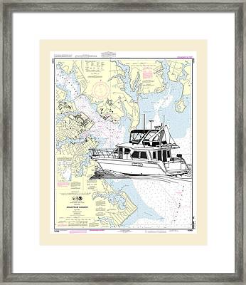 Yachting In Annapolis Harbor Framed Print