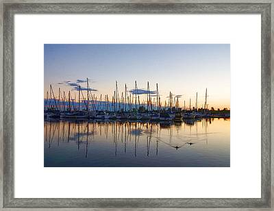 Yachts And Sailboats - Lake Ontario Impressions Framed Print