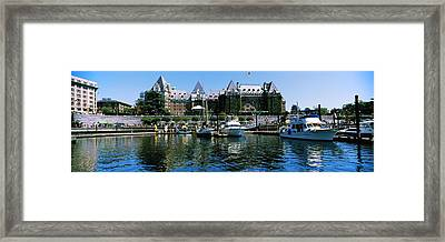 Yachts At Marina, Brentwood College Framed Print