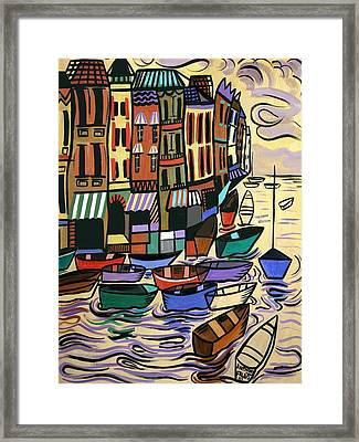 Yachts For Sale Framed Print by Anthony Falbo